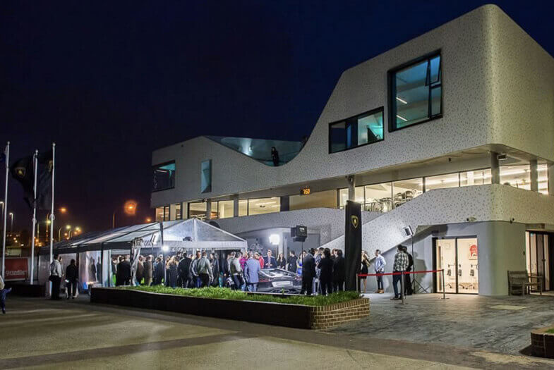 lamborghini showroom building external